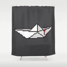 IT (Pixelwise the Clown) Shower Curtain
