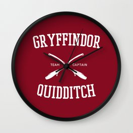 Hogwarts Quidditch Team: Gryffindor Wall Clock