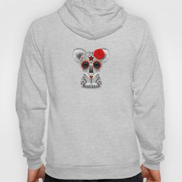 Red and Yellow Day of the Dead Sugar Skull Baby Koala Bear Hoody