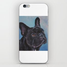 french bulldog dog portrait art from an original painting by L.A.Shepard iPhone Skin
