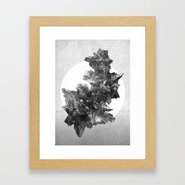 Asteroids sculpture Framed Art Print