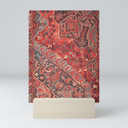 Traditional Oriental Rug Artwork Design C12 Mini Art Print