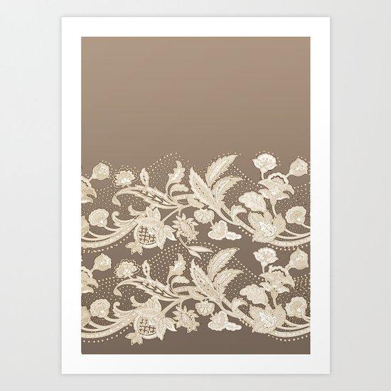 old lace border Art Print