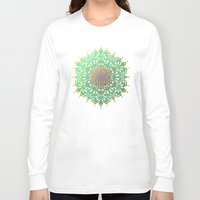 boho Long Sleeve T-shirts featuring Boho Medallions by Lisa Argyropoulos