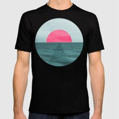 Magenta Sunset Mens Fitted Tee Black MEDIUM