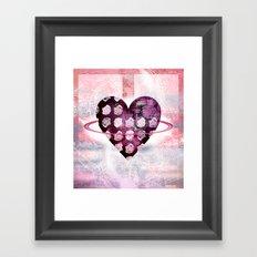 Rosy planet Framed Art Print