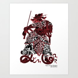 Chinese zodiac sign, Year of the Dragon Art Print