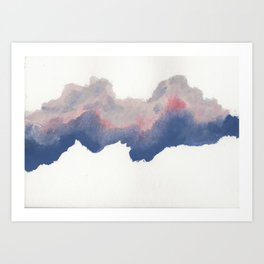 clouds_june Art Print