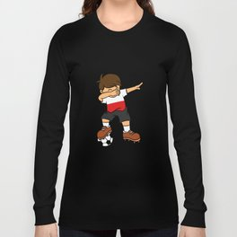 Poland Soccer Ball Dabbing Kid Polish Football 2018 Long Sleeve T-shirt