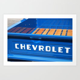 In my chevy truck  Art Print