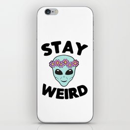Stay Weird Alien Head iPhone Skin