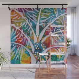 Leaves on the World Tree: Beti-Pahuin Dura Palm Wall Mural