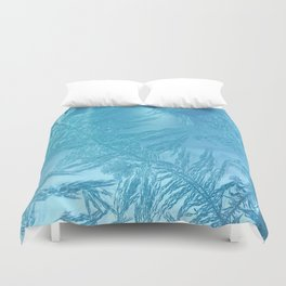 Hoar Frost: Diagonal Feathers Duvet Cover