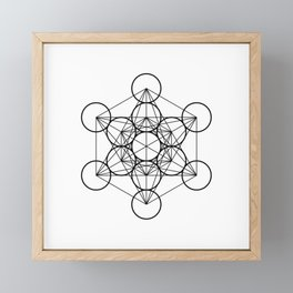 Metatron's Cube Framed Mini Art Print