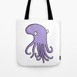 Purple Octopus Tote Bag