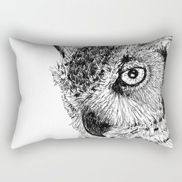 Ink Owl Rectangular Pillow