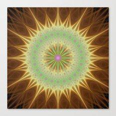Fractal mandala sun Canvas Print