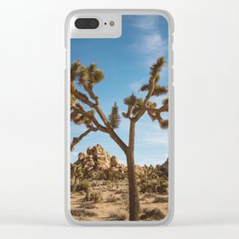 Joshua Tree National Park II Clear iPhone Case