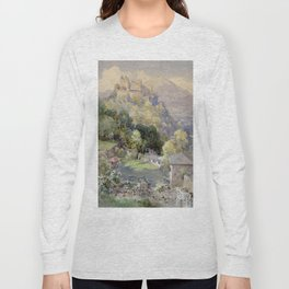 Overlooking the Hohenwerfen Fortress in Salzburg by Edward Theodor Compton Long Sleeve T-shirt