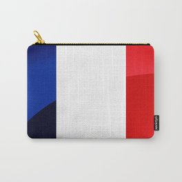 France Flag Circle Carry-All Pouch