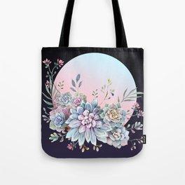 Succulent full moon Tote Bag