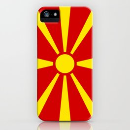 Flag of Macedonia - authentic (High Quality image) iPhone Case