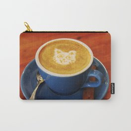 Coffee and Cats-A cat face in a coffee design Carry-All Pouch
