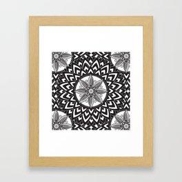 BLACK AND WHITE MANDALA  Framed Art Print