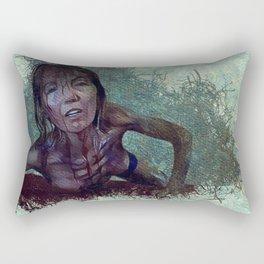 Zombie Woman Mark Two Rectangular Pillow