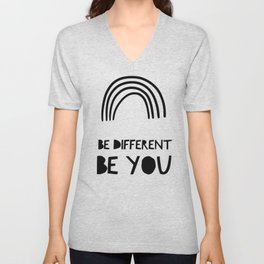 Be Different, Be You Unisex V-Neck