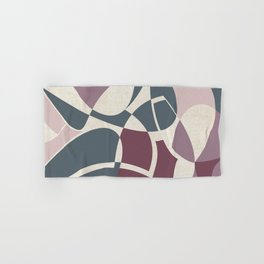Archivo - Abstract Design in Mulberry, Mauve, Shell Pink and Blue Hand & Bath Towel