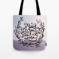 breaking Tote Bags featuring Breaking by Jessee Fish