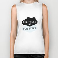 the fault Biker Tanks featuring The Fault In Our Stars by swiftstore