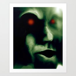 The Green Visitor Art Print