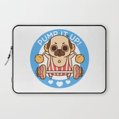 Pump It Up, Puglie! Laptop Sleeve