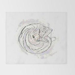 cat cosmos Throw Blanket