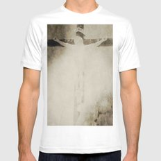 Touched by grace White MEDIUM Mens Fitted Tee