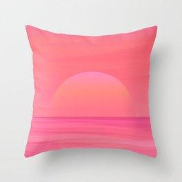 Sunrise Beach Throw Pillow