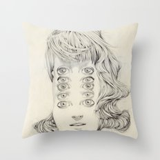Five of Them Throw Pillow