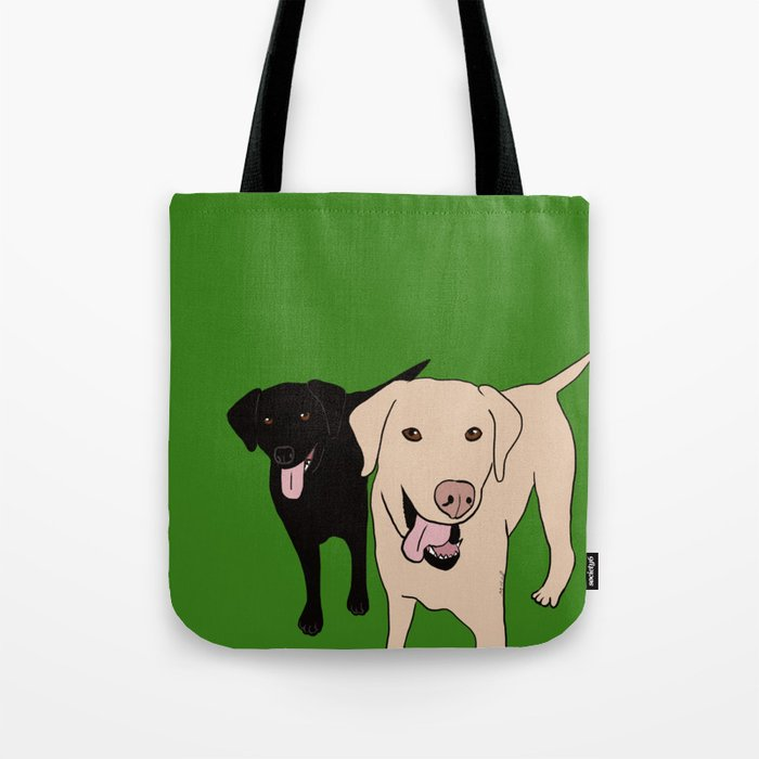 Tanner and Lily Best Labrador Buddies Tote Bag