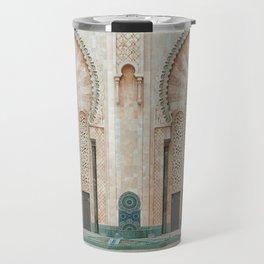 Mosque Hassan II in Casablanca, Morocco Travel Mug