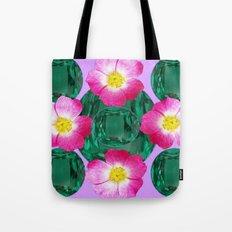 PINK PURPLE-ROSE GREEN GEMS BIRTHSTONES Tote Bag
