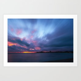 Amazing Sunset at Anse Vata Bay in Noumea, New Caledonia Art Print