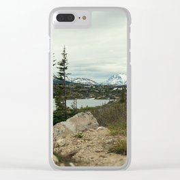 Yukon Mountains Clear iPhone Case
