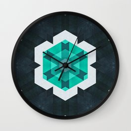 mynt ∞ snwwflykk Wall Clock