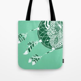 Mint Dreamcatcher Tote Bag