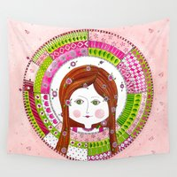 virgo Wall Tapestries featuring Virgo by Sandra Nascimento
