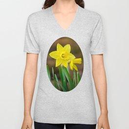 Daffodil Flower Unisex V-Neck