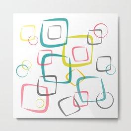 Circles & Squares Metal Print