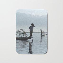 Intha fishermen, Inle Lake Bath Mat
